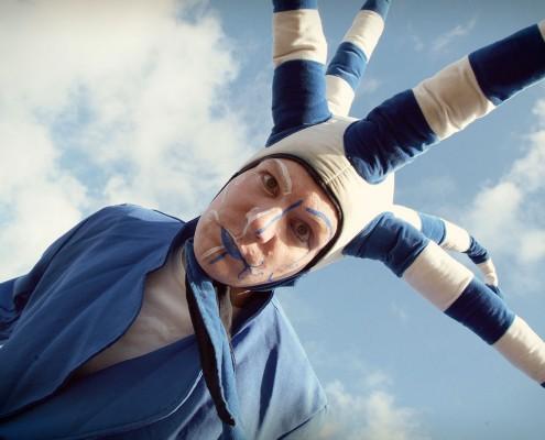 Steltloper Blauw